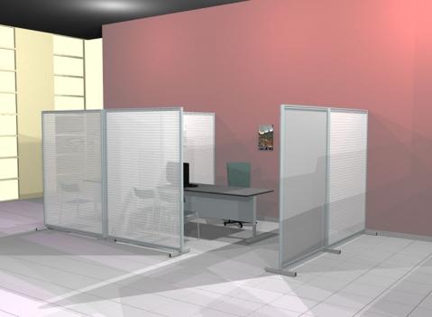 Linea ala pannelli espositivi vetrine espositve for Pannelli divisori ufficio