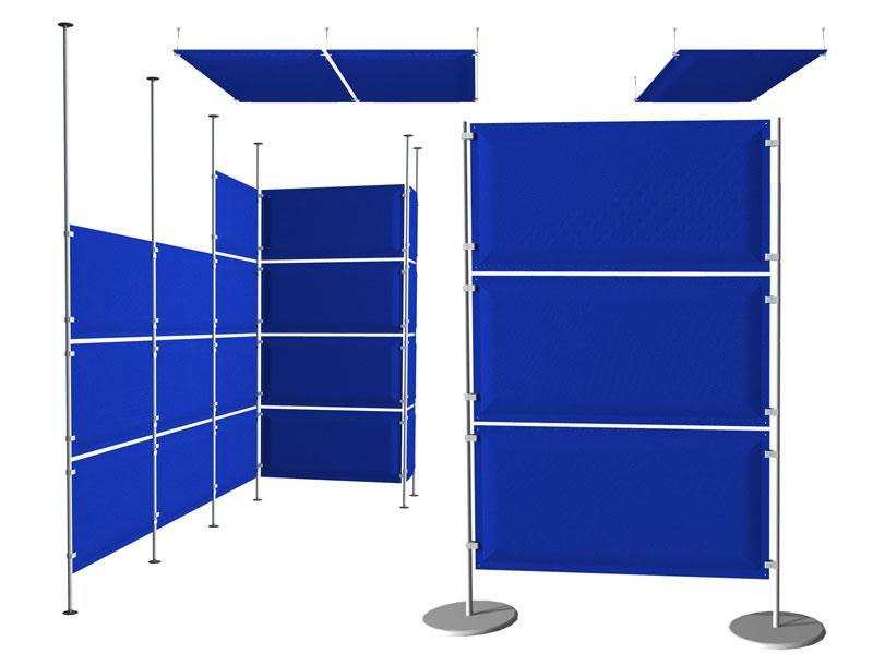 Soluzioni acustiche modo pannelli espositivi vetrine for Divisori da ufficio